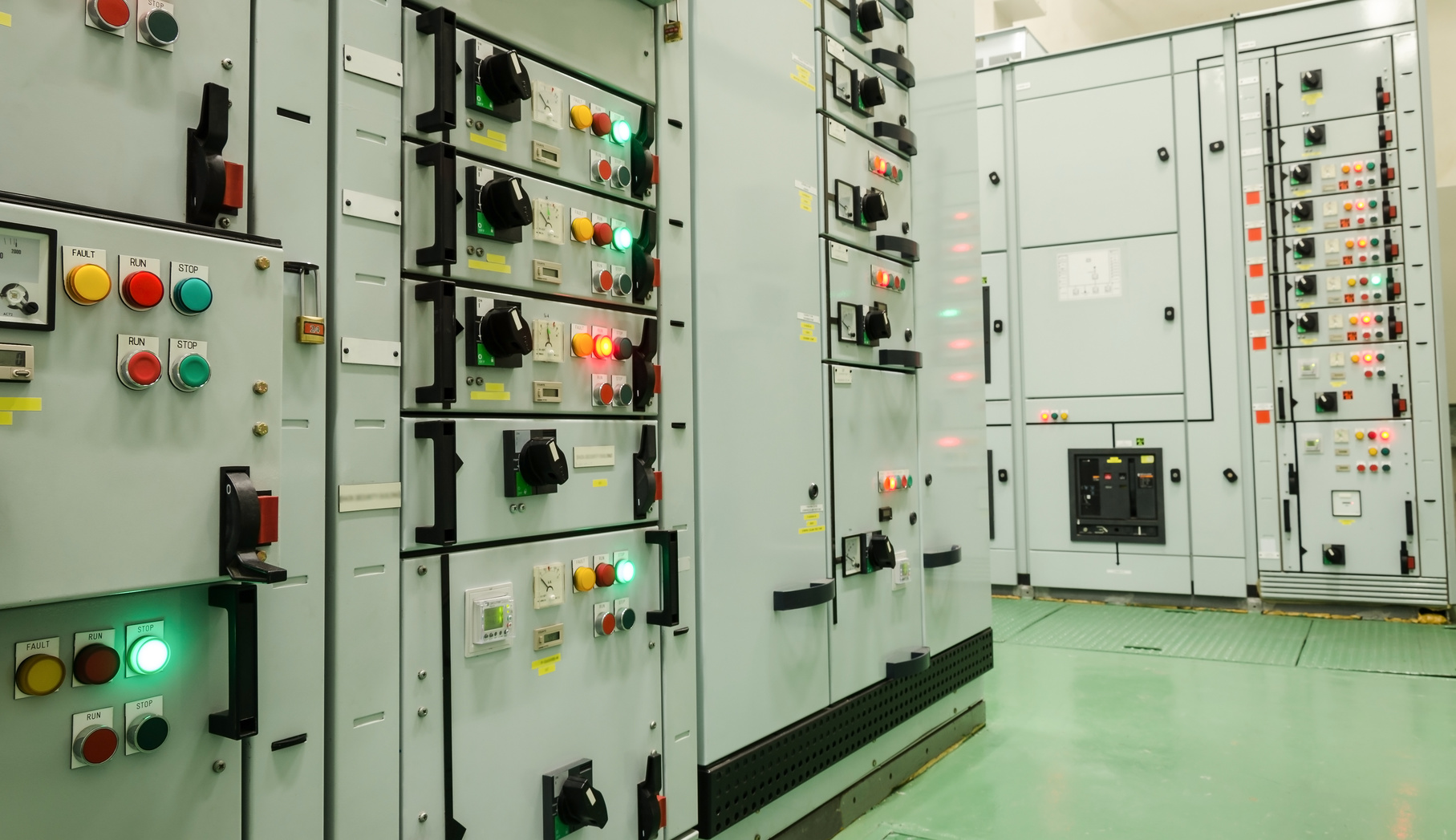 electrical energy substation in a power plant.